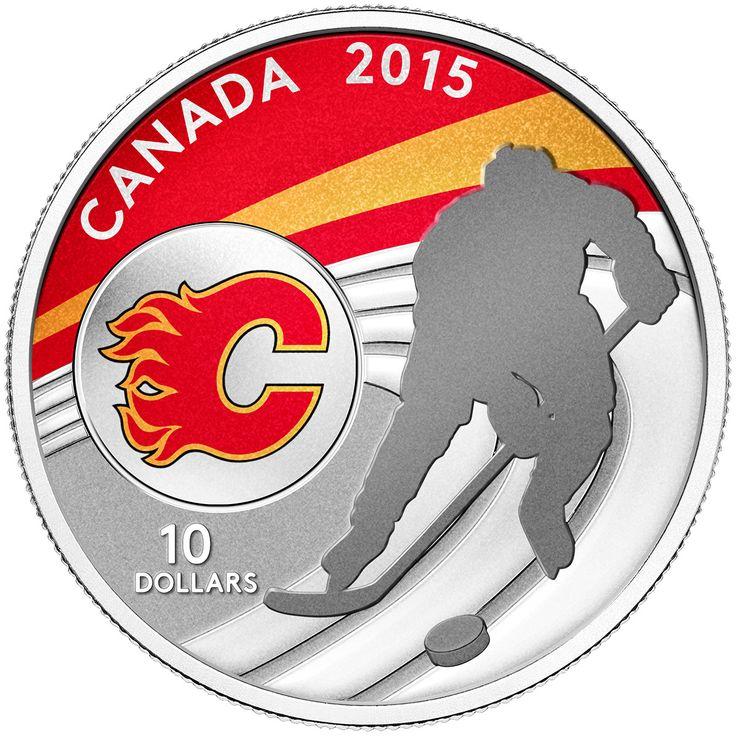 Canada 10 Dollars Silver Coin 2015 Calgary Flames