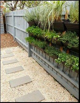 Create vertical herb garden