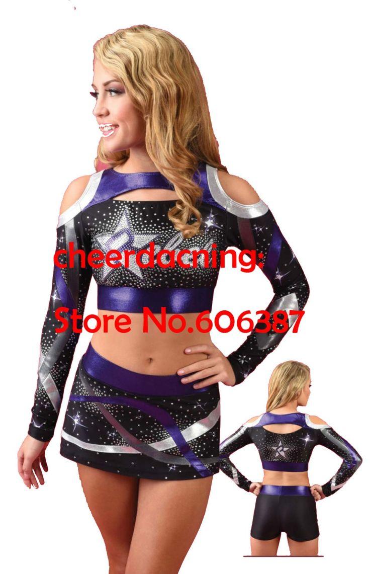 1 conjunto dài tay áo phong cách cô gái Cheerleader Uniform Cheerleader Costume chọn kích thước chọn phong cách