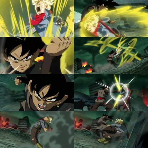 Battle: Trunks vs Goku Black - Visit now for 3D Dragon Ball Z shirts now on sale!