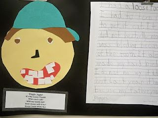 ALL my kiddos have a loose tooth story!! :) Great idea and cute art project! Used with Andrew's Loose Tooth