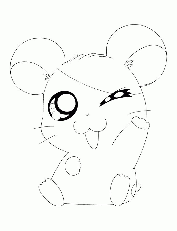 Cute Animal Colouring In : 23 best hamtaro coloring pages images on pinterest