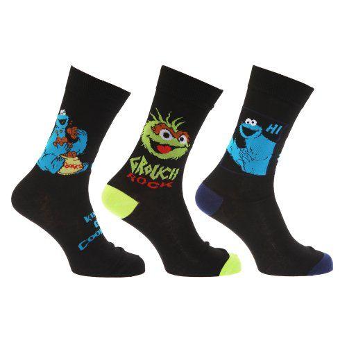 Sesame Street Mens Novelty Socks (Pack Of 3)   Sesame Street Mens Novelty Socks (Pack Of 3)   Fun Sesame Street socks in three designs.   In sizes US 7-12.   93% Polyester 5% Nylon 2% Elastane.   Machine washable.    http://www.beststreetstyle.com/sesame-street-mens-novelty-socks-pack-of-3/