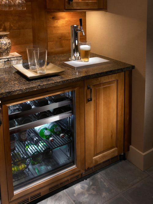 Beautiful Home Bar with Kegerator Space