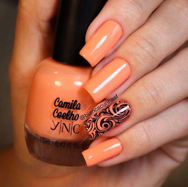 YNC Tropical Salmon Nails