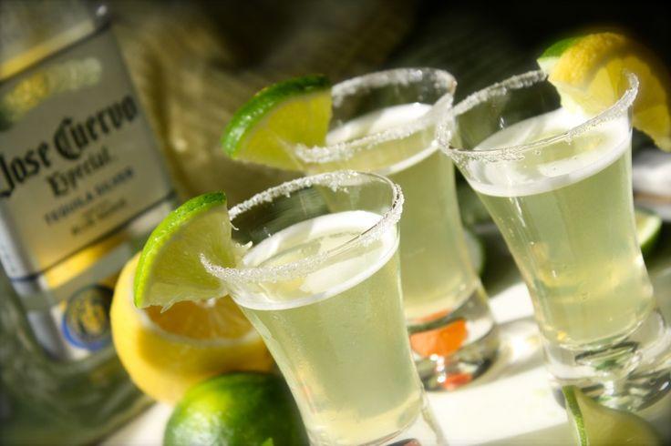 Mini-ritas (1 Part Silver Tequila   1 Part Triple Sec or any Orange Flavored Liqueur  1 Part Sour Mix)