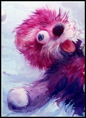 Acuarelas de película : Breaking Bad. Pink Teddy Bear