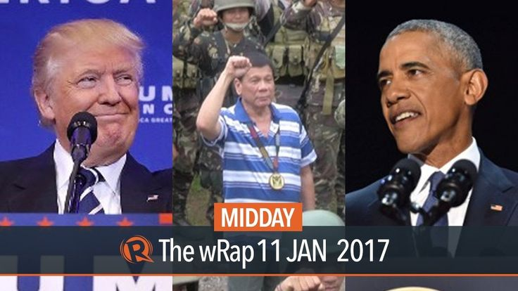 SWS survey, Obama, Trump | Midday wRap - WATCH VIDEO HERE -> http://dutertenewstoday.com/sws-survey-obama-trump-midday-wrap/   Today on Rappler: – SWS survey: Duterte administration's public satisfaction rating down by 5 points – Obama delivers final presidential speech – US spy chiefs tell Trump Russian operatives have compromising info on him Follow Rappler on Social Media: Facebook – Twitter &...