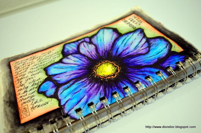 Original pinner sez: This journal page was done in Tombow water-soluble markers and pen & ink.  ILOVE these colors, must keep checking this blog!