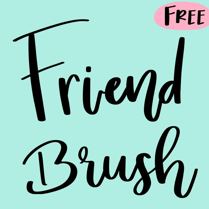 Free friend procreate brush procreate lettering