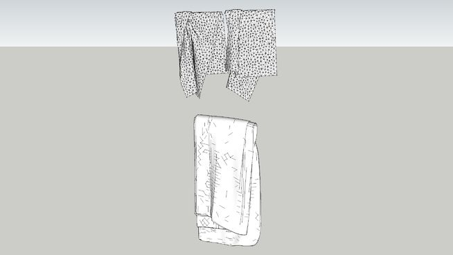 Large preview of 3D Model of Bathroom towels