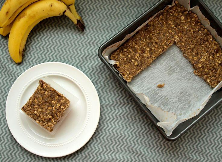 Banana oat bars {vegan, gluten-free, nut-free}