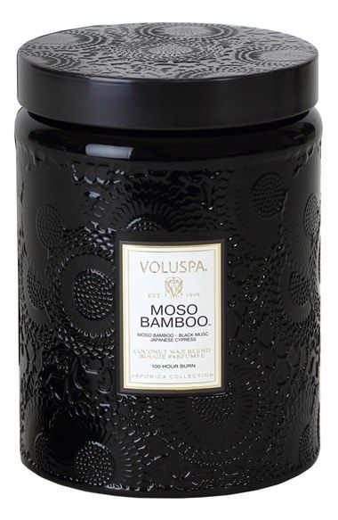 Voluspa 'Japonica - Moso Bamboo' Large Embossed Jar Candle | Nordstrom