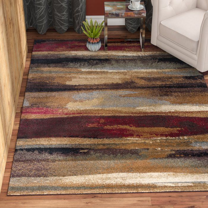 Hartle Abstract Brown Beige Area Rug Area Rugs Brown Area Rugs