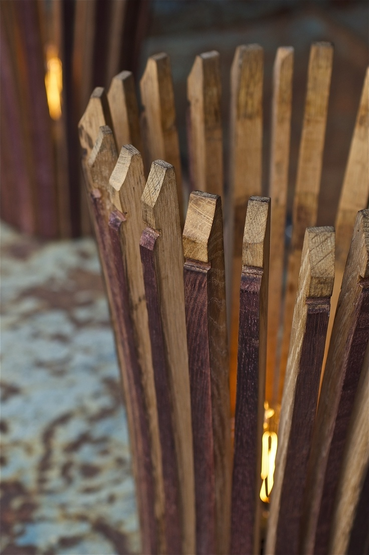 Staves Images On: Wine Barrel Stave Lamp