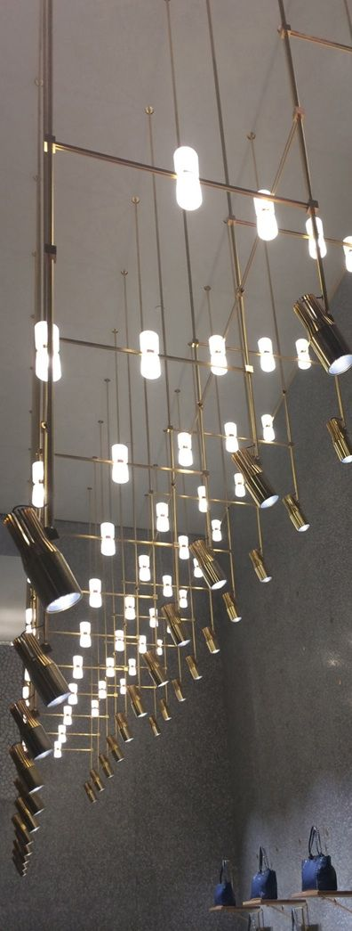 Viabizzuno bespoke light fitting for flagship valentino store new york city
