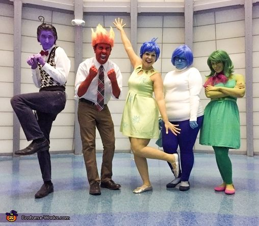 Inside Out Family Costume - Halloween Costume Contest via @costume_works