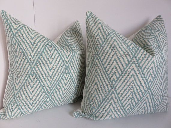 Include one pillow cover, pillow insert is not include  -Size: 18x18/20x20/16x16  -Color: chevron aqua, Zigzag Cream, ivory linen fabric  -