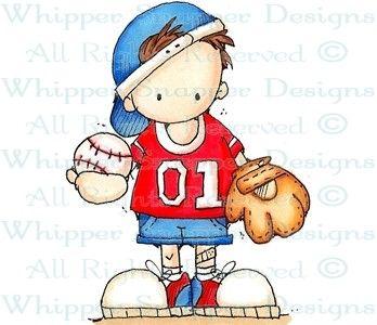 Baseball Brandon - Children - Rubber Stamps - Shop