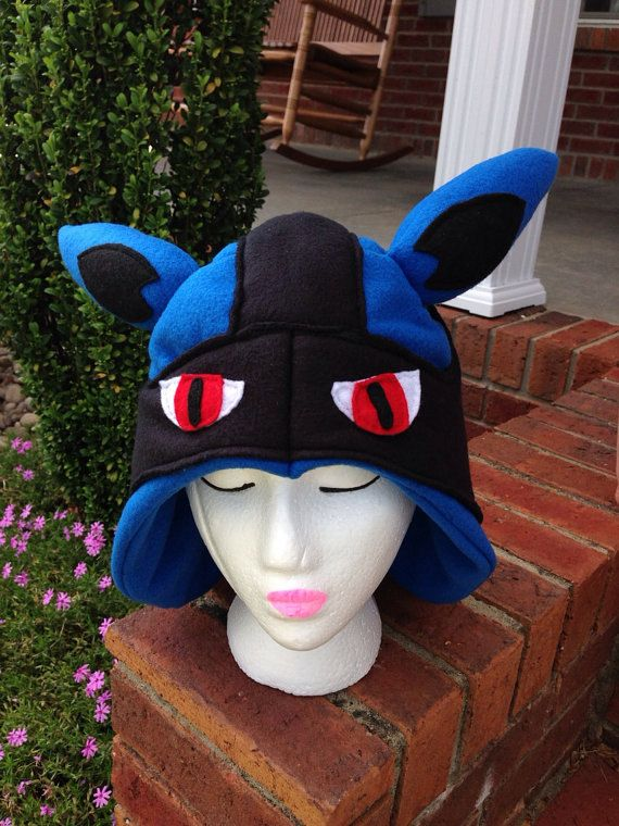 Lucario Pokemon Number 448 inspired Hat by MCoomerPlushiesnMore