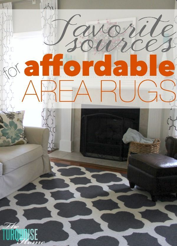 A good area rug makes or breaks a room. Size, quality and style all play a big part! But some of them can be pricy!! Check out these favorite sources for affordable area rugs via TheTurquoiseHome.com