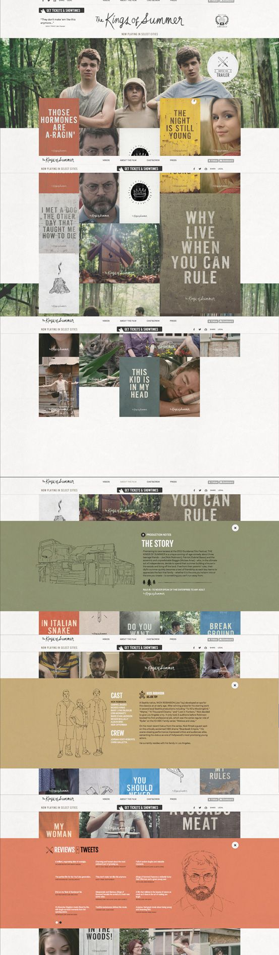 The Kings of Summer Tumblr Site #webdesign #inspiration #UI #Social Media