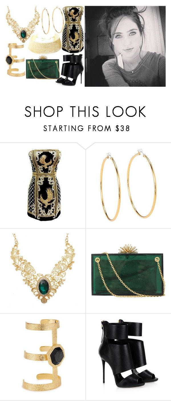 """Bellarnia Mythia Nyx Black"" by elli-jane-xox ❤ liked on Polyvore featuring Juicy Couture, Charlotte Olympia, Isharya, Giuseppe Zanotti and YooLa"