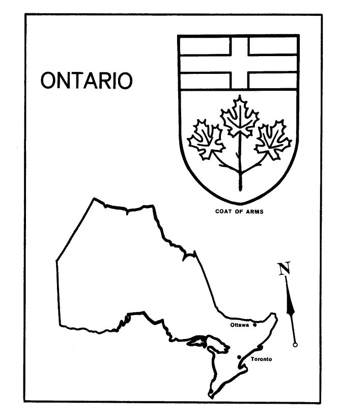 Canada Day - Ontario - Map / Coat of Arms