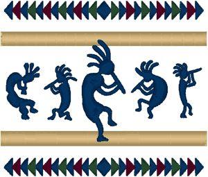 Windstar Embroidery Designs: Kokopelli #1