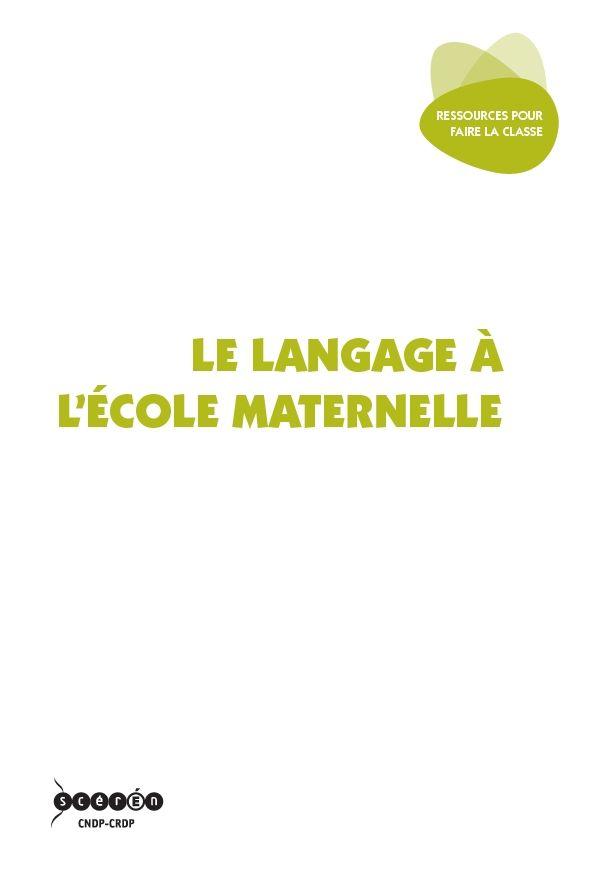 Un outil, précieux pour les maîtres, qui éclaire les différentes facettes de l'enseignement du langage oral comme écrit à l'école maternelle.