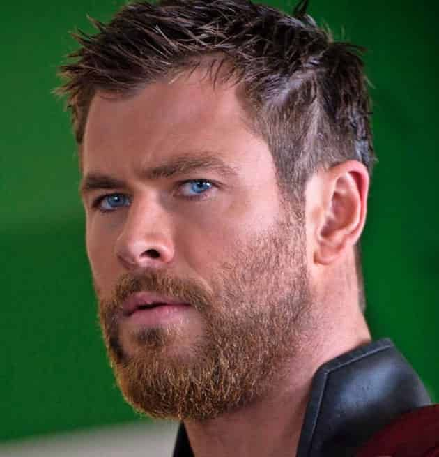 Thor Short Hairstyle In 2019 Short Hair With Beard Hair