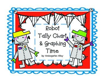 Robot Graphing activity using a picture cube https://www.teacherspayteachers.com/Product/Roll-A-Robot-Tally-Chart-Graphing-Center-1966059