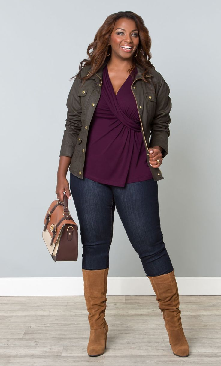 Layer it on this fall slim or plus size, great look | Plus ...