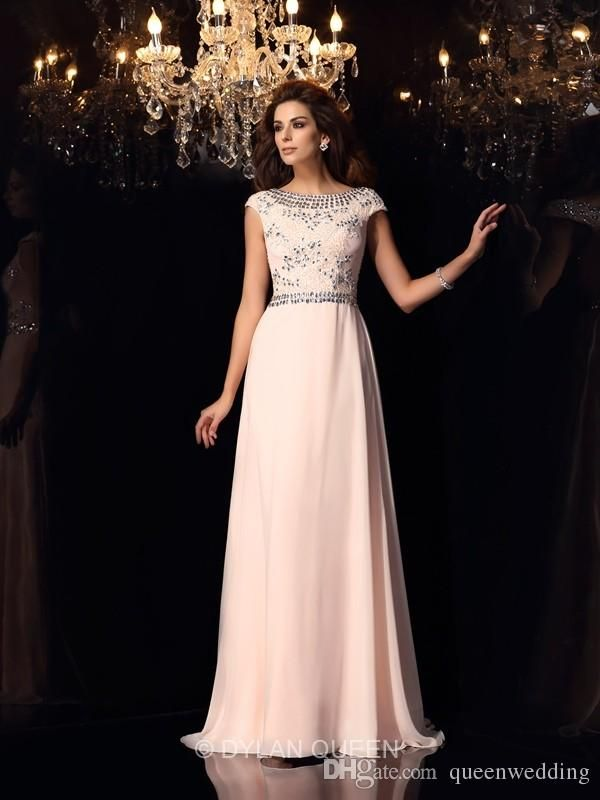 Elegant Black 2015 Mother of the Bride Dresses Wedding Party Dress Short Sleeves Beading Long Chiffon Backless Custom Made Prom Dress SX324, $146.6 | DHgate.com
