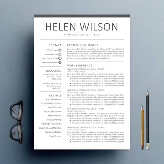 Instant Download Modern Resume Cv Template Cover Letter Reference Letter For Ms Word Super Easy Modern Resume Template Resume Design Free Resume Template