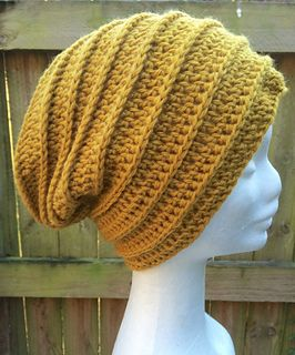 Free crocheted beanie Pattern.  Make it short and sweet, make it long and slouchy.