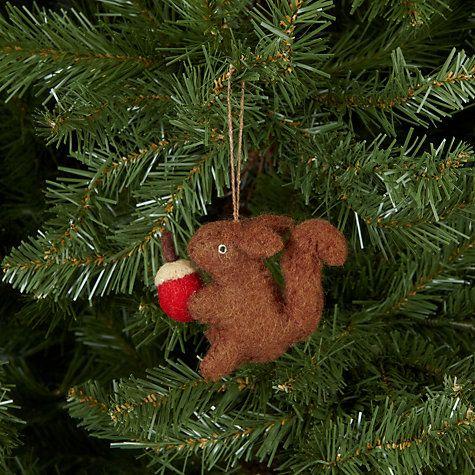 Buy Felt So Good Squirrel With Acorn Tree Decoration Online at johnlewis.com