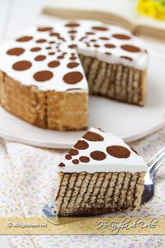 Torta di biscotti e budino, una ricetta veloce, facilissima, senza forno. 22
