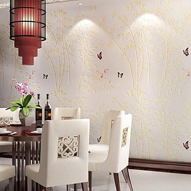 10m*0.53m 3D Pile Coating  Thickening Wallpaper China Bamboo  Breathe Freely   T866 – AUD $ 84.36