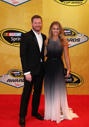 Dale Earnhardt Jr. and Amy Reimann at the 2015 NASCAR Cup Awards Banquet