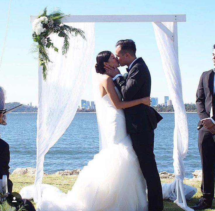Wedding Ceremony on the Front Lawn at South of Perth Yacht Club