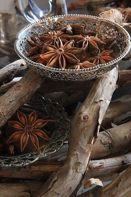 star anise via inspirationlane-com:    (via Christmas Neutrals /)