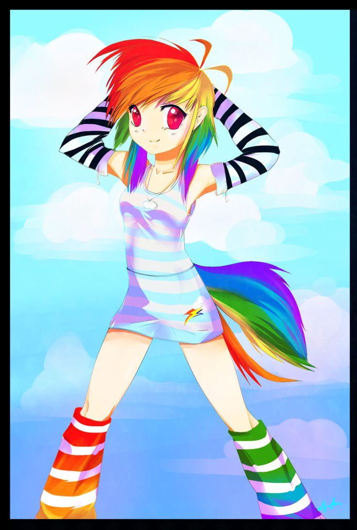 Картинки радуги дэш аниме