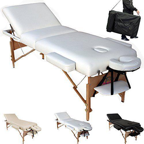 TecTake Table Lit de Massage Pliante Portable – diverses couleurs au choix: Longueur 195cm sans appui-tête, avec appui-tête env. 230cm…