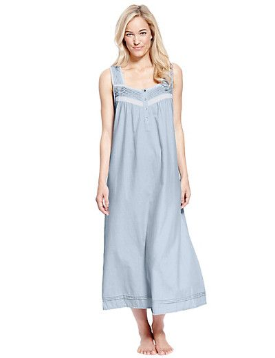 Pintuck Long Nightdress with Cool Comfort™ Technology | M&S