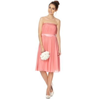 Debut Lily Pleat Bandeau Midi Dress- at Debenhams.com