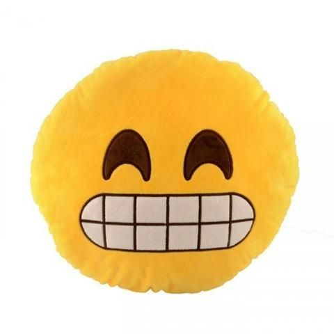 Yes. Your friend needs one. #Emoji #Cushion #UniqueGifts #GiftIdeas #Canada http://giftideascanada.com/grimace-emoji-cushion/