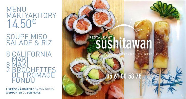 Le menu maki yakitory // sushitawan http://www.sushitawan.fr   #sushi #toulouse #japonais #cuisine #authentique #jap #restaurant
