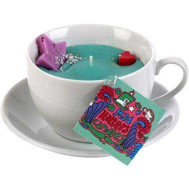 Emerald Sky Mad HattersTea Candle - Mad Hatters Tea Cup Candles - Candles - Home Fragrance | Bomb Cosmetics