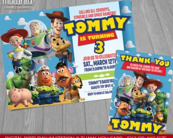 Toy Story Invitation Toy Story Invite Disney by MaluhiaPrints